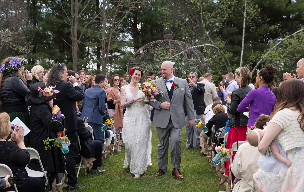 outdoor spring wedding ceremony in the Hudson Valley