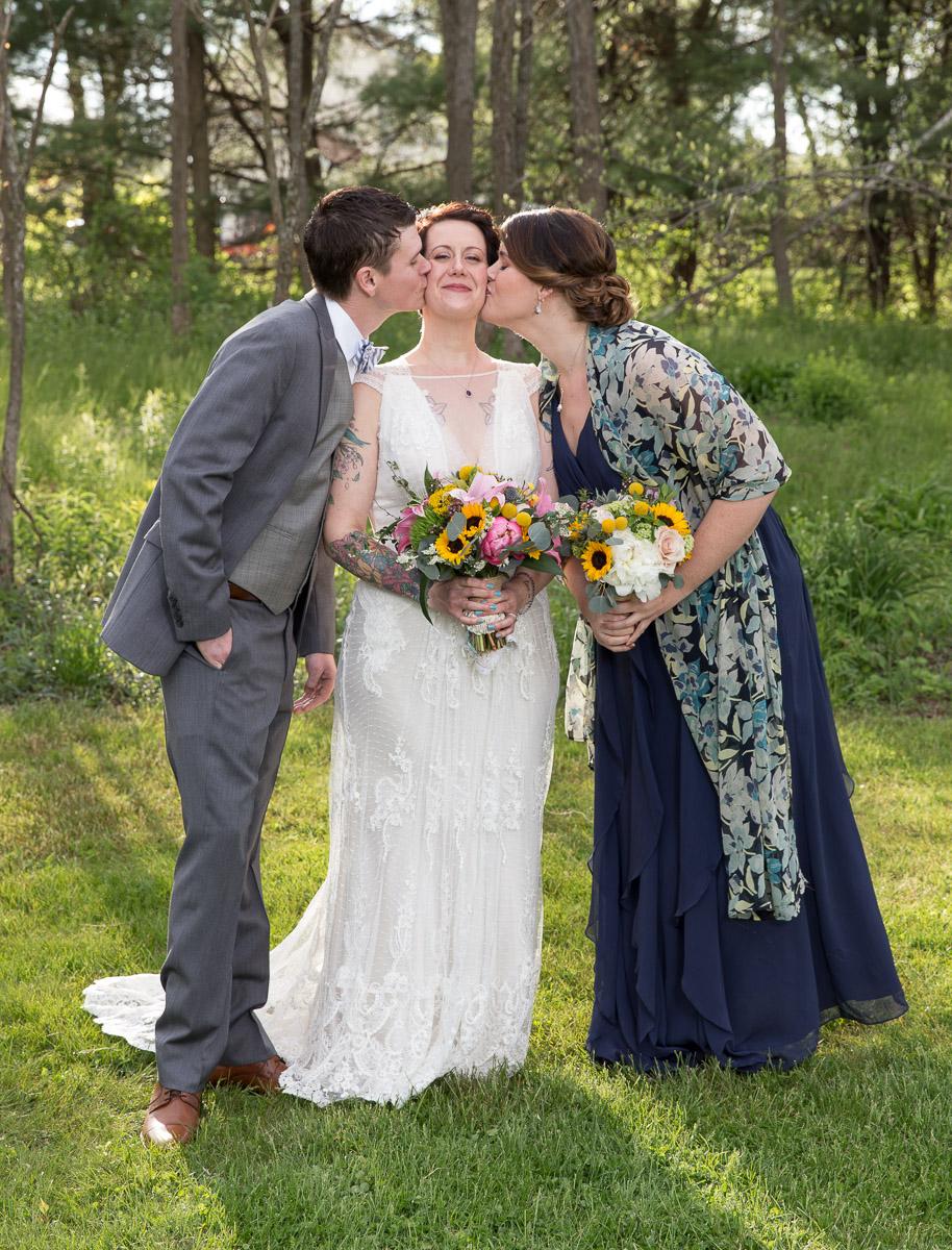 non-traditional wedding portrait
