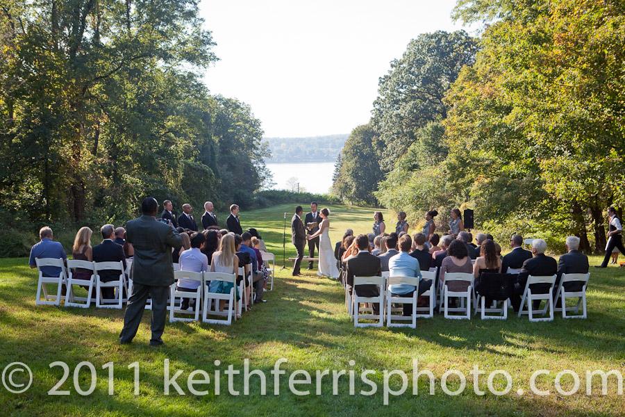 Mount Gulian historic site lawn wedding ceremony