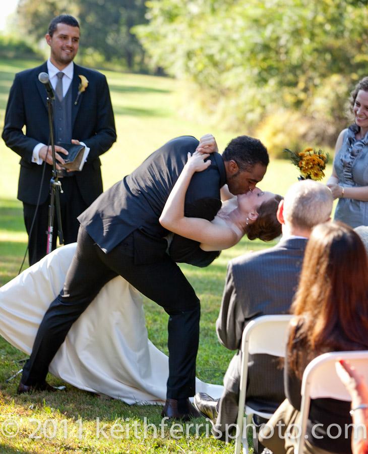 Outdoor Beacon wedding ceremony