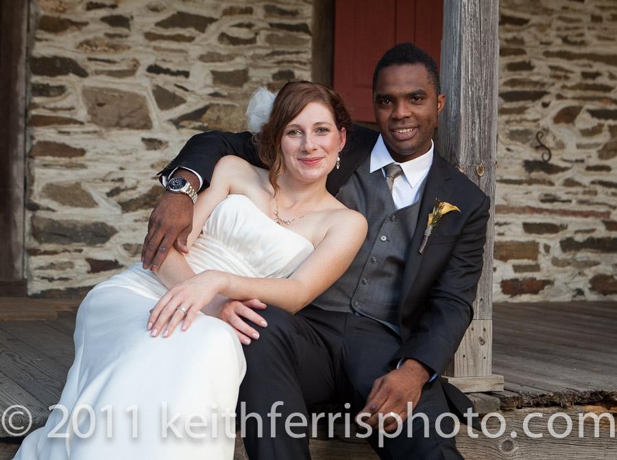 casual wedding photo outdoors Mount Gulian