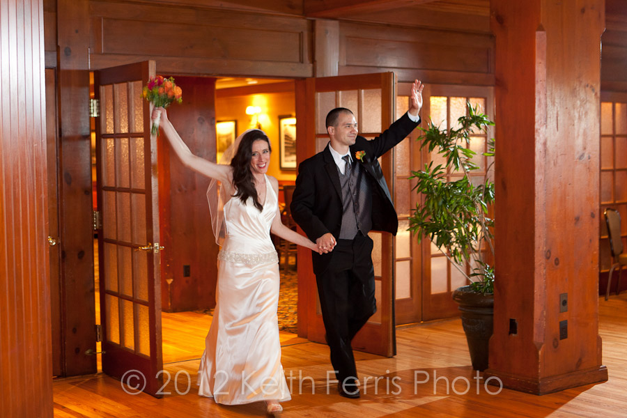 the bride and groom make their enterance