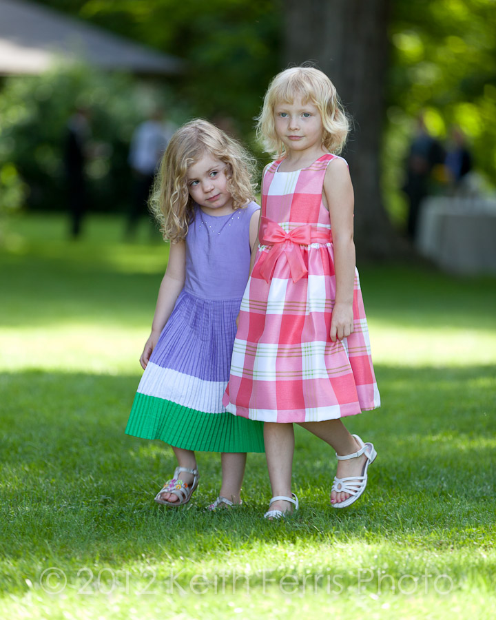 Flower girls at Shadow Lawn in High Falls NY
