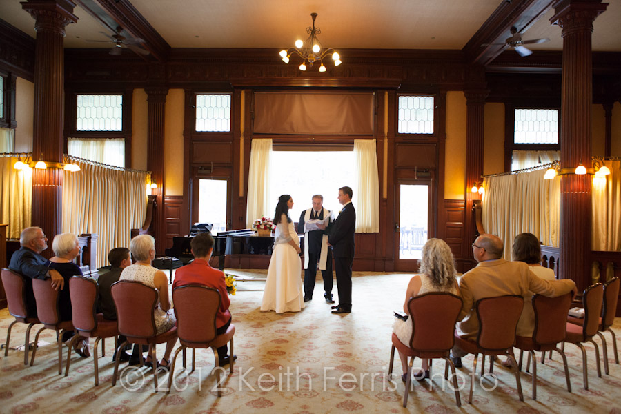 Mohonk parlor wedding ceremony