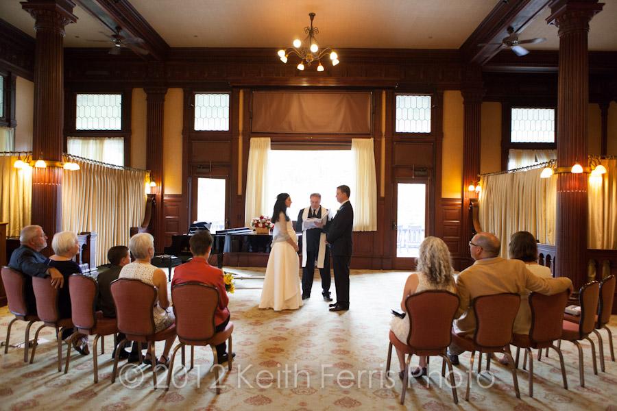 Mohonk parlor wedding ceremony