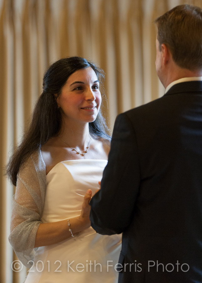 exchange of vows in the parlor