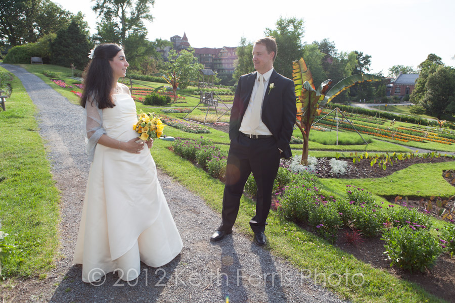 Mohonk garden wedding photos