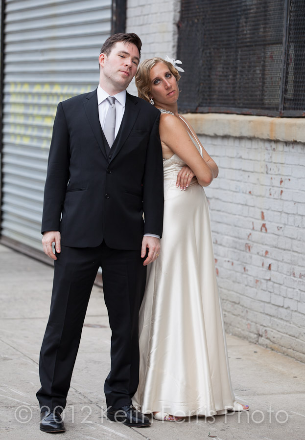 stylish mad men wedding couple