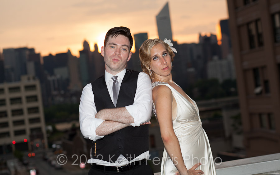 LIC rooftop wedding photographer Queens NY