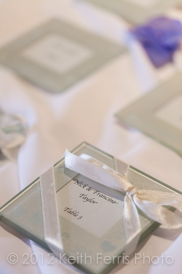 wedding place cards detail