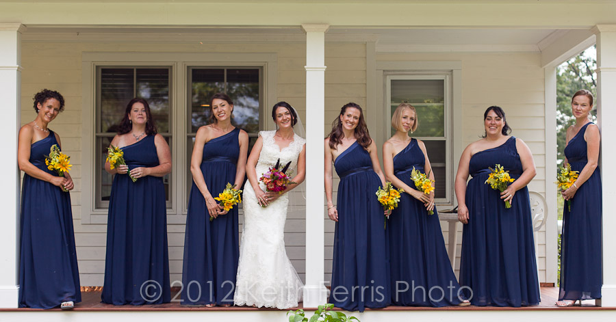 bridesmaids group photo in High Falls NY