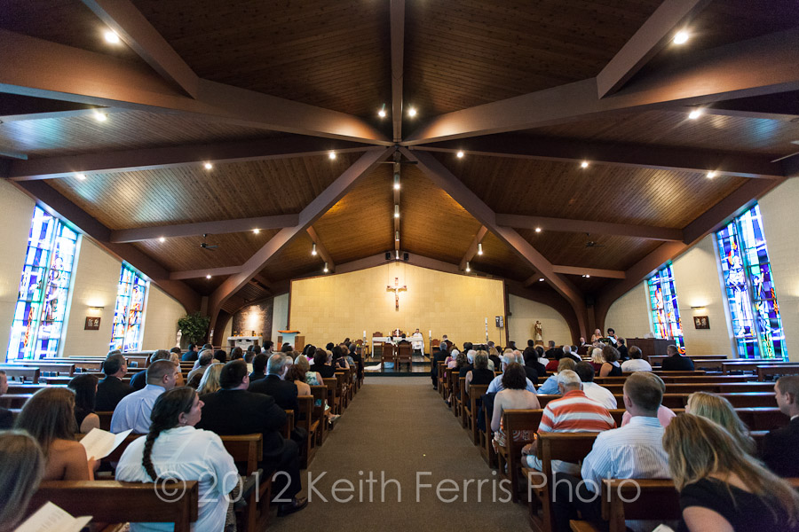 Catholic Church in New Paltz wedding photo