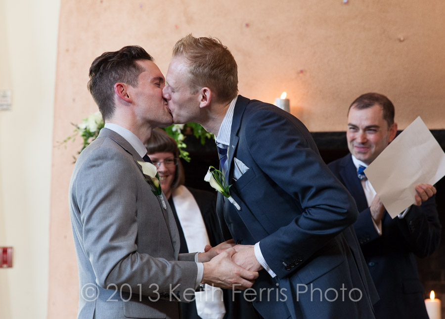 Hudson Valley same sex wedding photographer