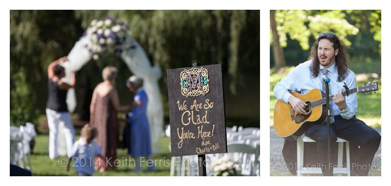 Outdoor wedding ceremony Milton NY