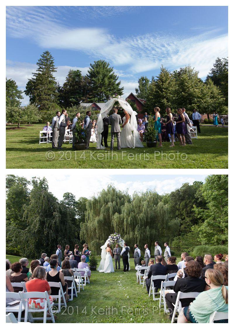 Buttermilk Falls outdoor wedding ceremony