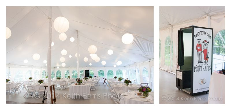 Full Moon wedding tent and photo booth