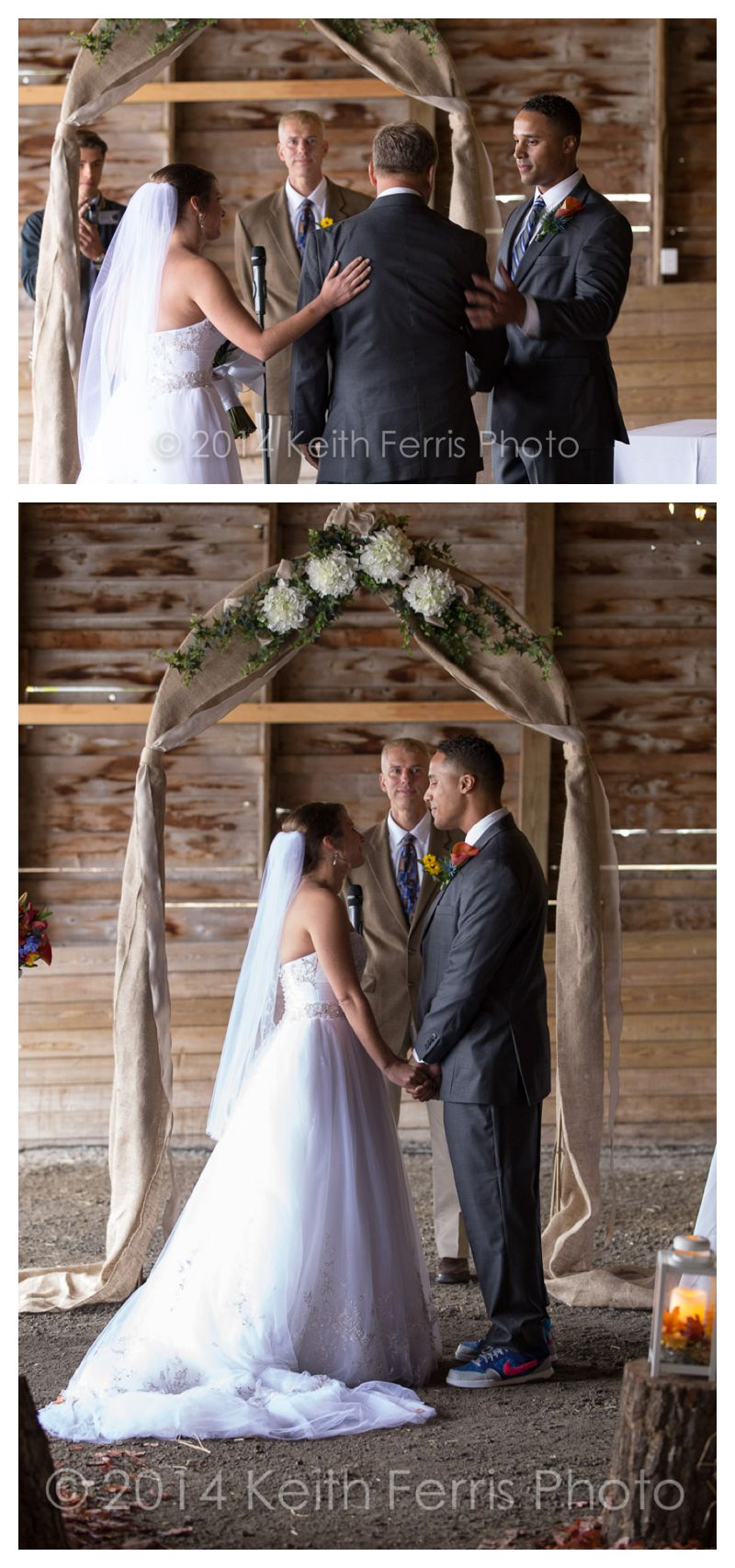 barn wedding ceremony in Columbia County