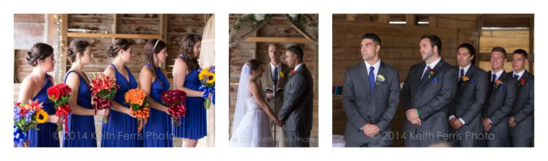barn wedding ceremoy