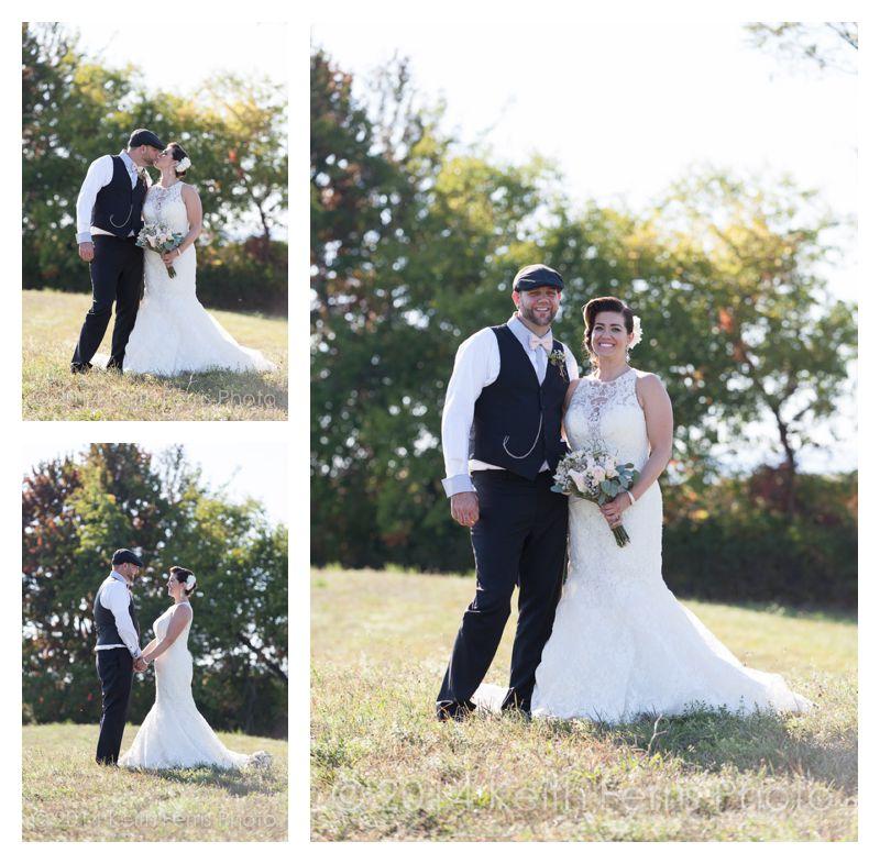 wedding portraits in a field