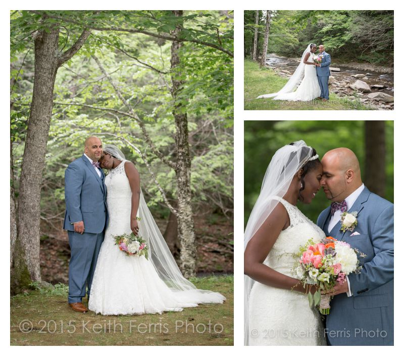 wedding portraits along the Esopus Creek in Big Indian NY