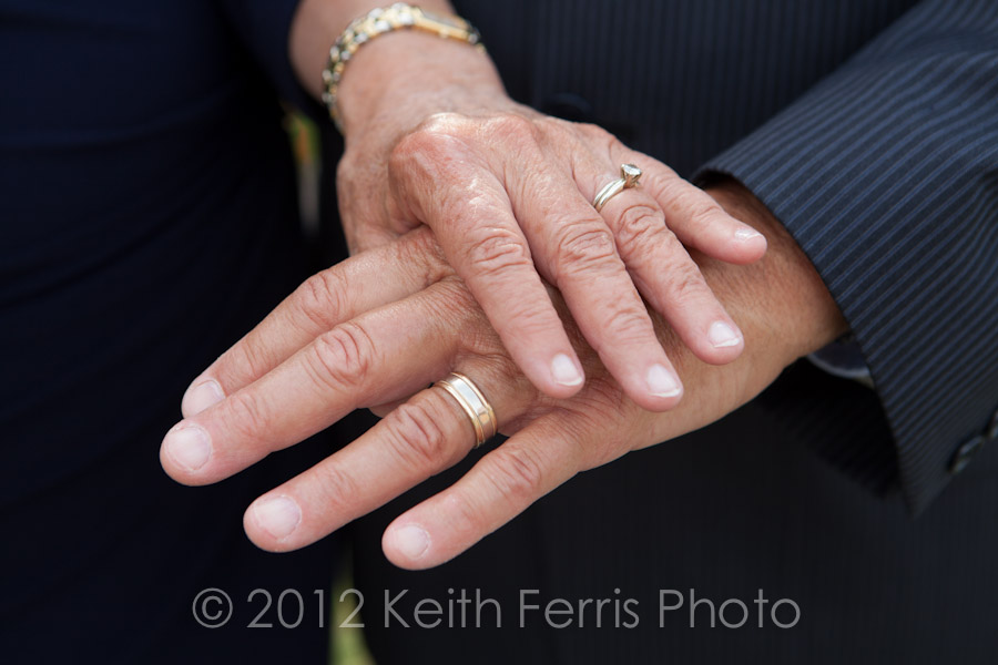 Tim and Maria's hands with their wedding bands at Mohonk.