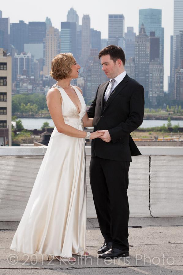 rooftop NYC wedding photo