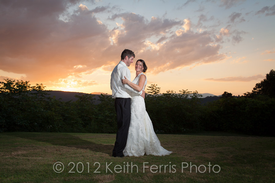 Catskills sunset wedding portrait photography