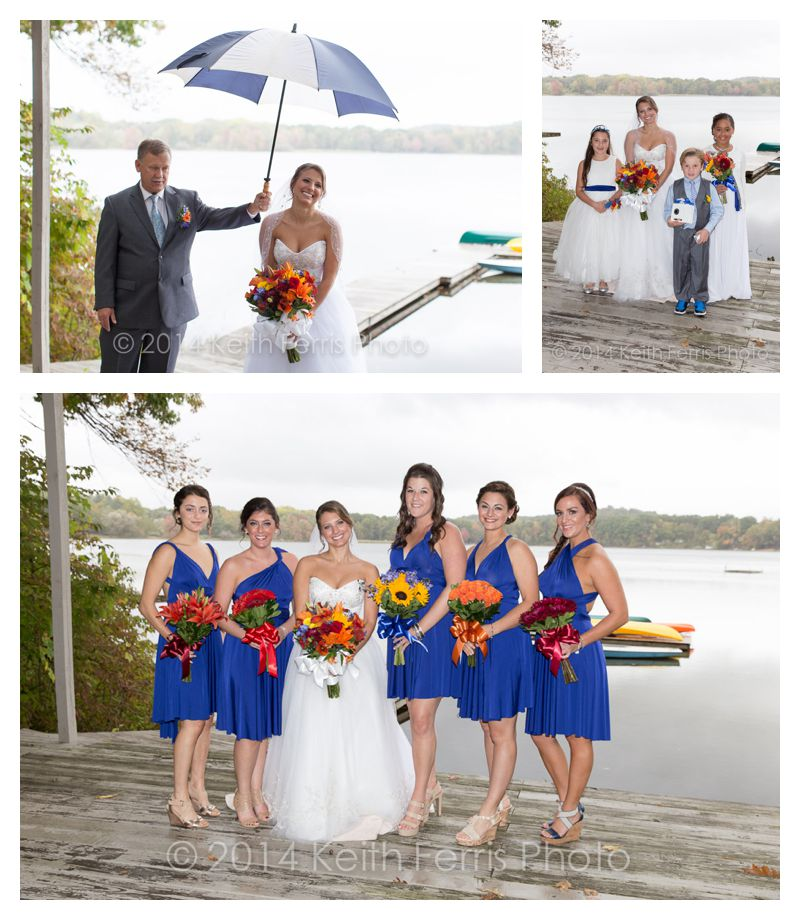 Copake Lake wedding photos in the rain