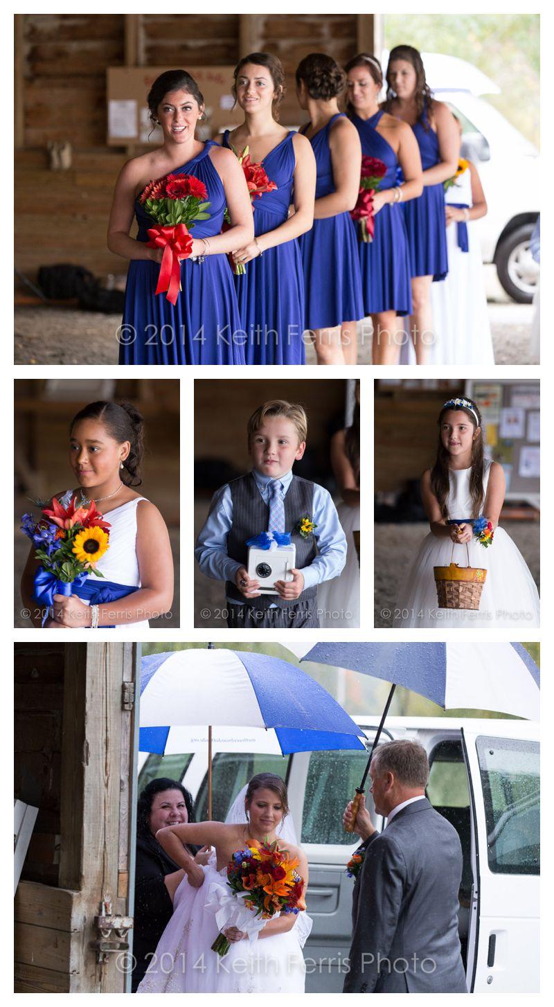 barn wedding ceremony setup