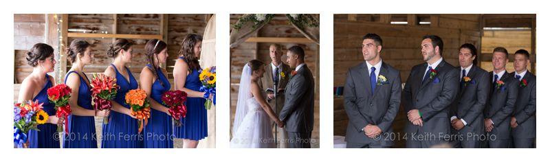 barn wedding ceremoy