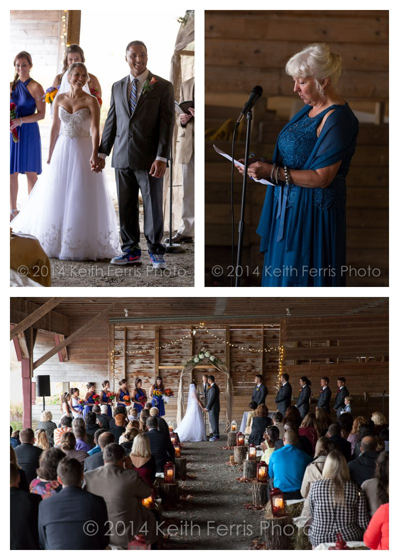 wedding ceremony in the barn