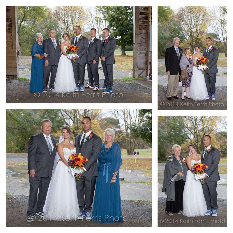 formal wedding photos in the rain
