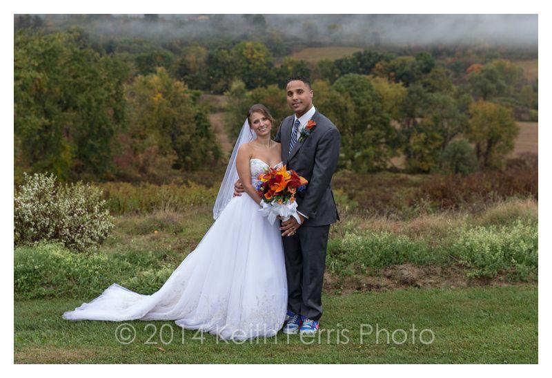 rainy fall wedding photos