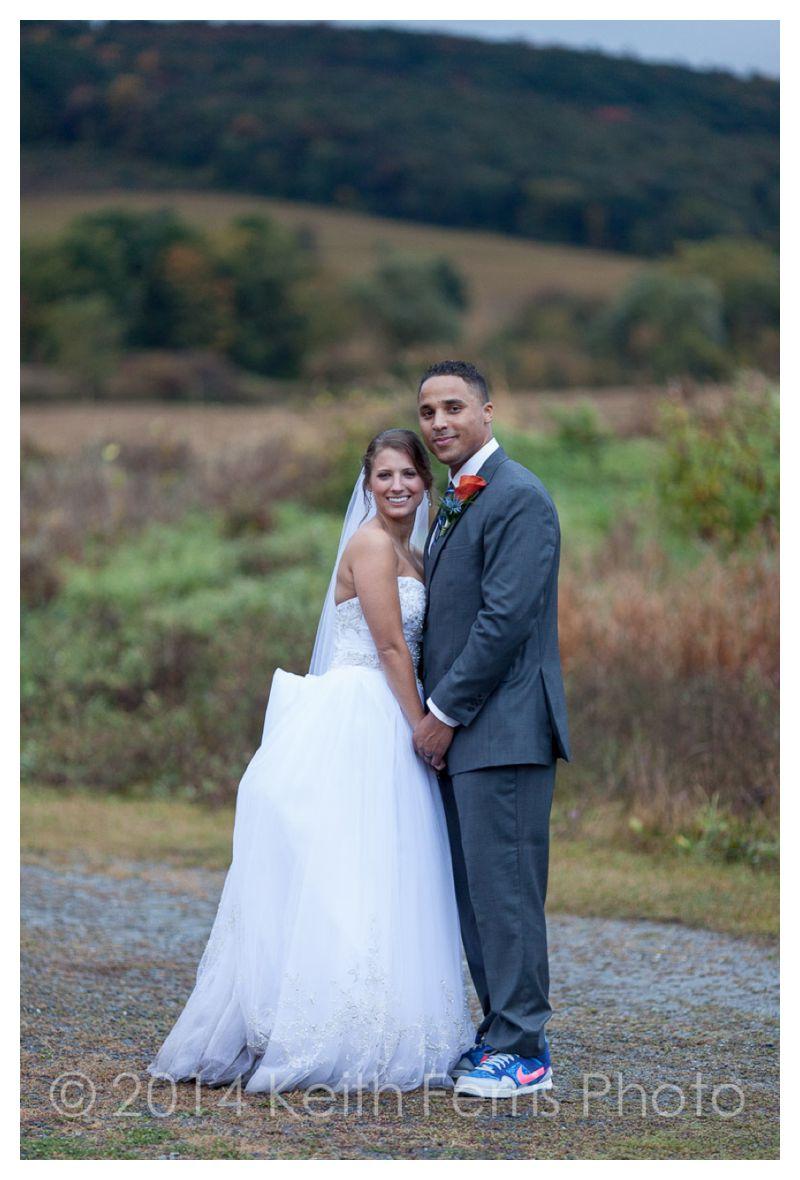 beautiful wedding portait in the field