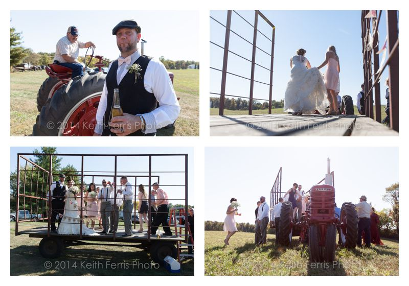hudson valley country wedding tractor