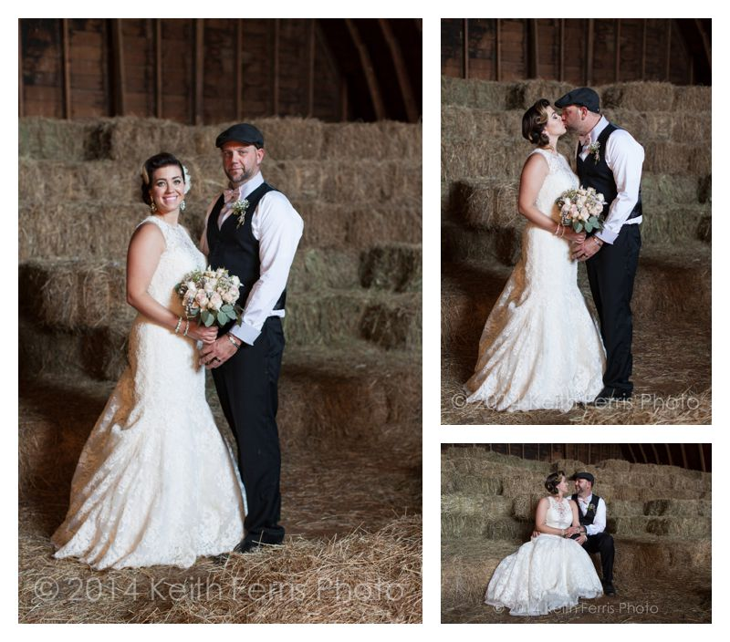 hay loft wedding photos