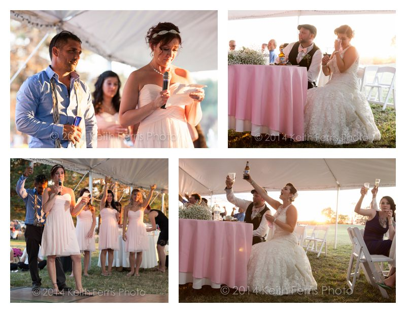 tent wedding toast
