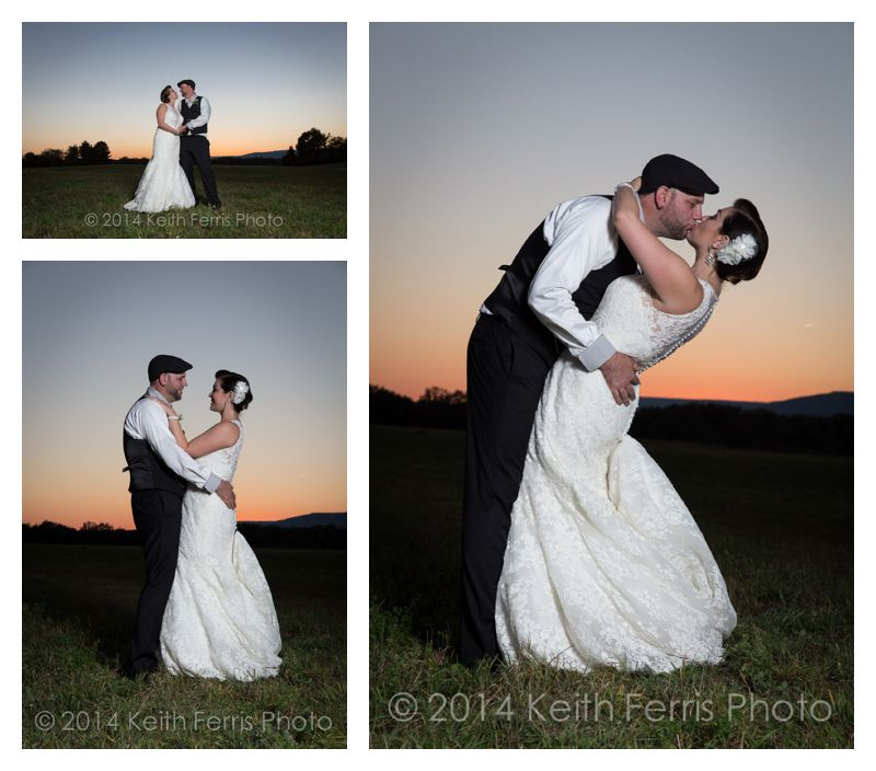 new paltz sunset wedding photo