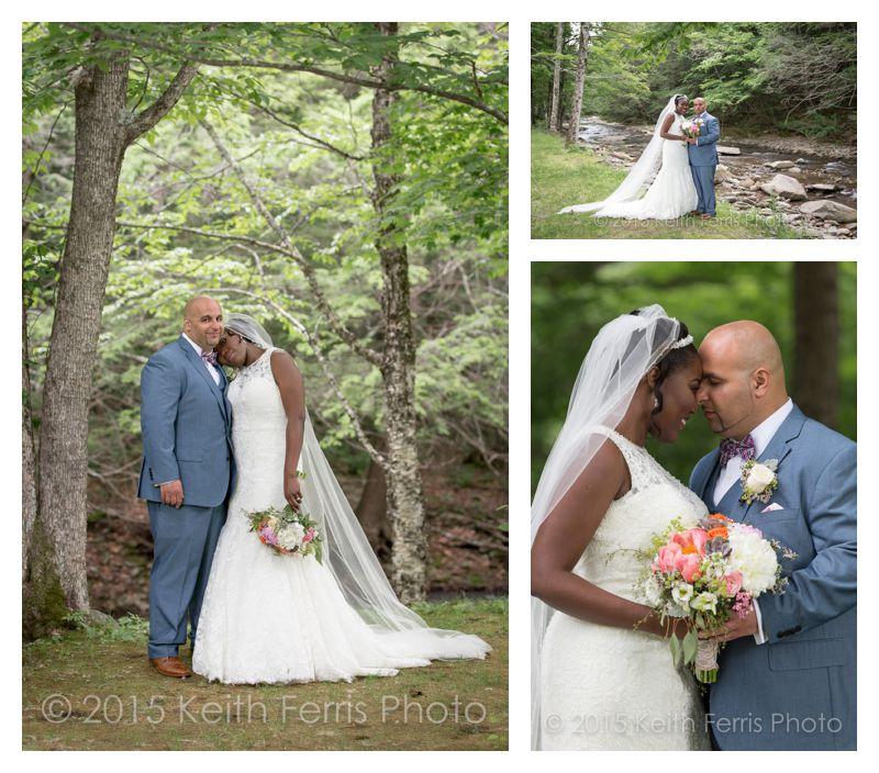wedding portraits along the Esopus Creek in Big Indian NY